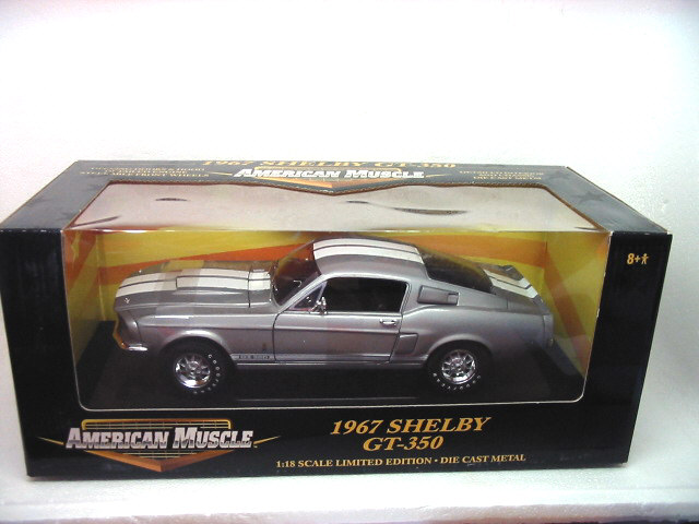 1967 SHELBY GT350 MUSTANG Silver Grey 1/18 [Ertl 36421A